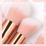 Set 10 pensule profesionale make-up Marble Pink