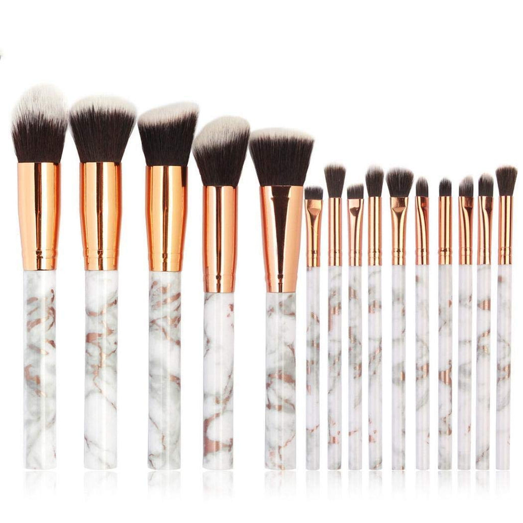 Set 15 pensule profesionale make-up Marble Grey