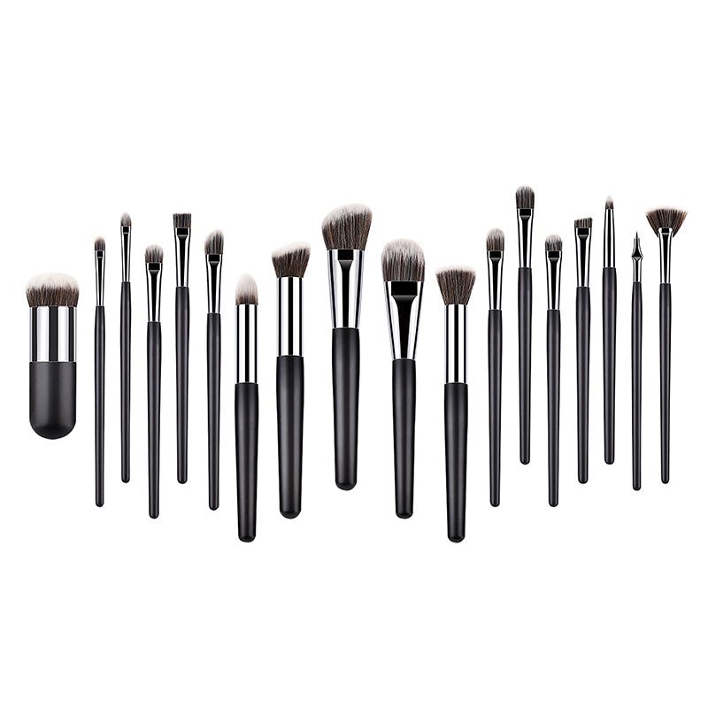 Set 18 pensule machiaj Profesionale Ultra Black