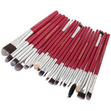Set 20 pensule machiaj profesionale Luxury Red