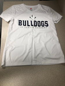 Ladies V Neck Dry Fit Bulldog Tee