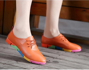 Breathable Leather Women's Orthopedic Shoes for Bunion