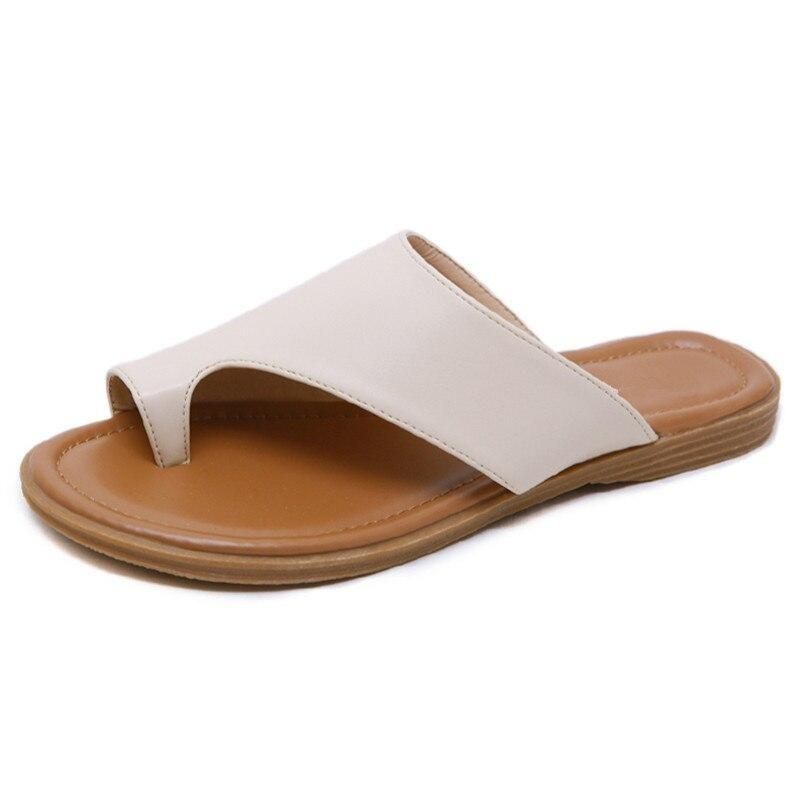 Genuine PU Leather Bunion Correction Sandals
