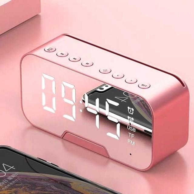 Portable Bluetooth Stereo Speaker AND Mirror Alarm Clock