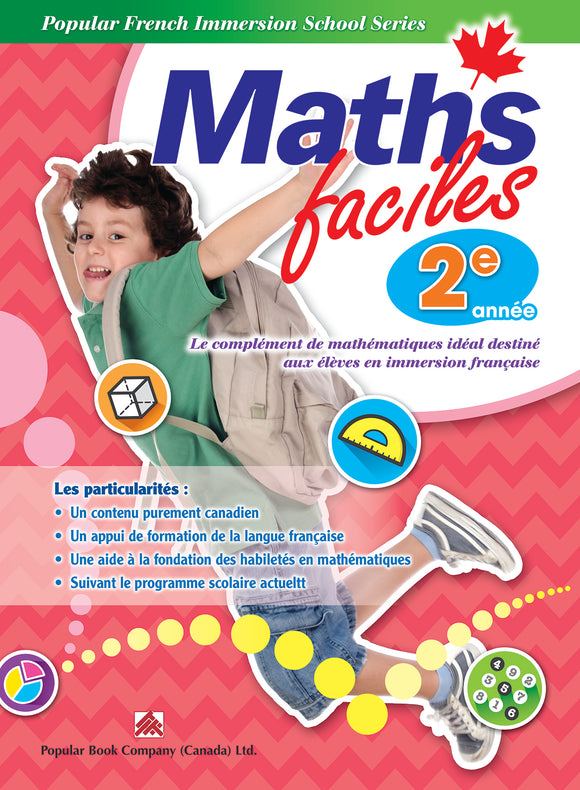 Popular French Immersion School Series: Maths faciles Grade 2