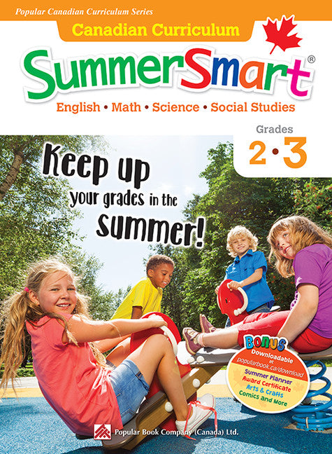 Popular Canadian Curriculum Series: Canadian Curriculum SummerSmart 2-3