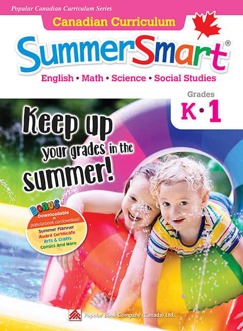 Popular Canadian Curriculum Series: Canadian Curriculum SummerSmart K-1