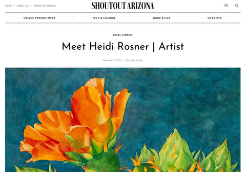 Heidi Rosner, artist, in Shoutout Arizona