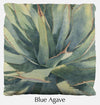 Blue Agave throw pillow, agave throw pillow front, Heidi Rosner