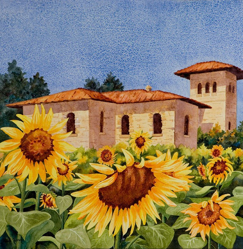 Sunflowers at the Villa