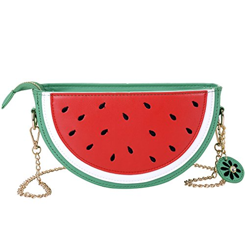 1dfb922726c0 Women's PU & Transparent Medium Cute Fruit Style Handbag Purse Shoulder Bag