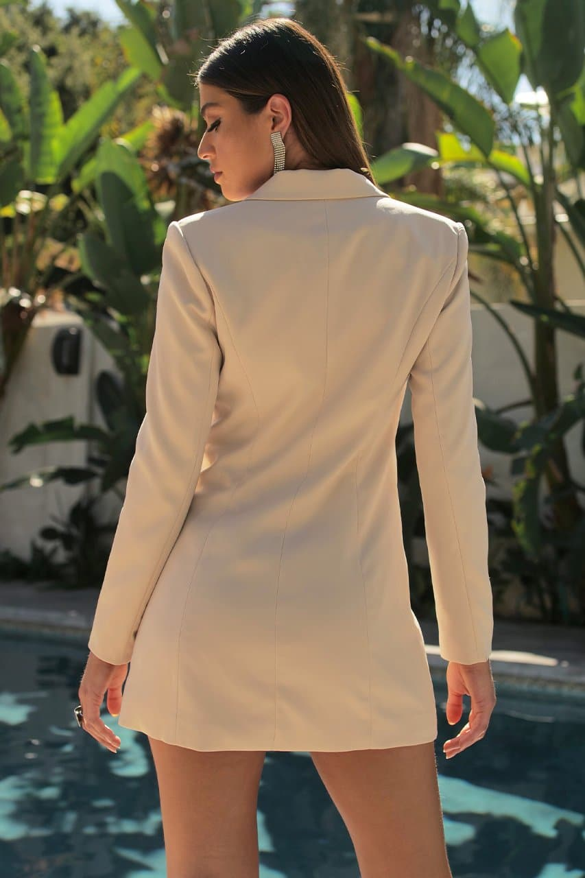 Zoe Blazer Dress - Beige
