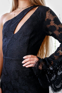 Rosie Dress - Black Lace