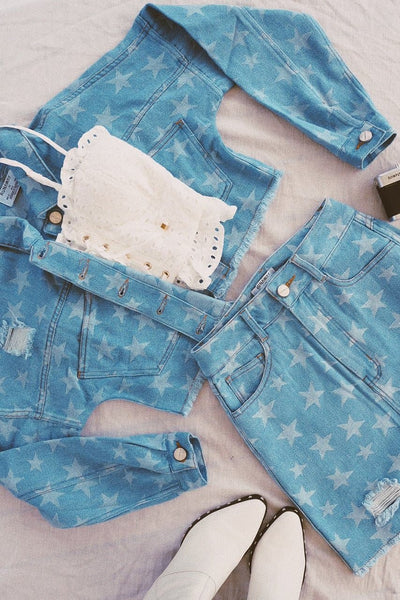 AMERICANA DENIM MINI SKIRT - STAR DENIM