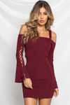 ATHENA KNIT DRESS -  BERRY