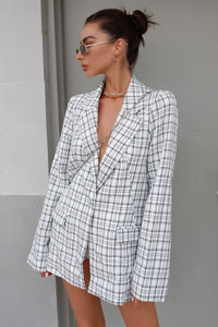 Amera Blazer - White Check