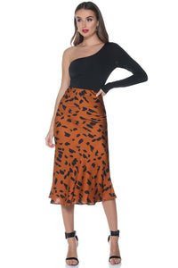 Flint Slip Skirt - Rust