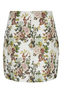 Cleo Mini Skirt - Ivory Floral