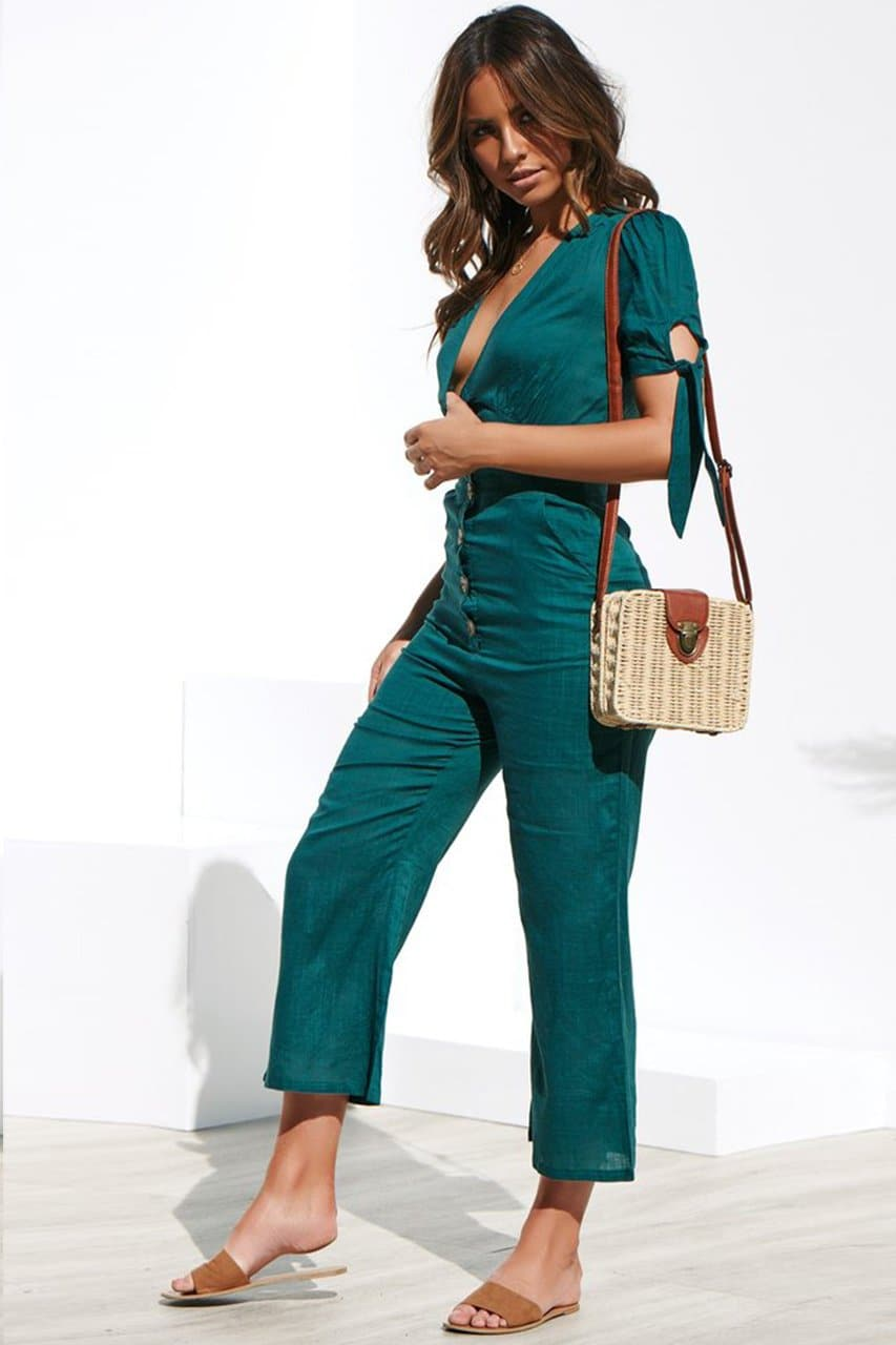 LUCA JUMPSUIT - EMERALD