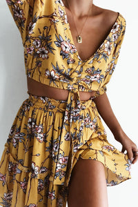 Bonita Top - Yellow Floral