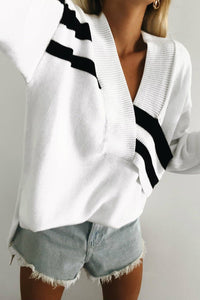 HEART RACIN' SWEATER - WHITE/BLACK