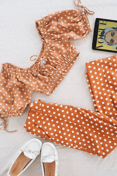 JULIA CROP TOP - RUST SPOT