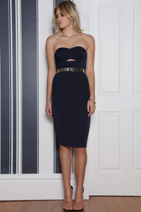 MIRAGE DRESS - NAVY