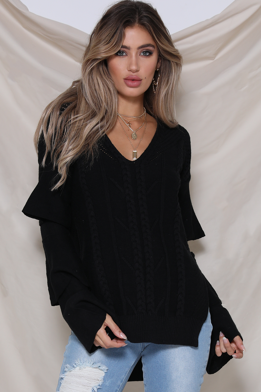 CLOUD NINE SWEATER - BLACK