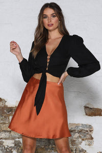 Zinnia Skirt - Rust