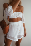 Mikonos Top - White Mesh