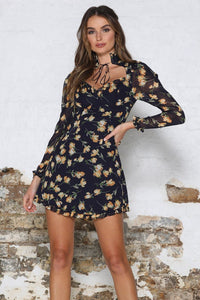 Harper Dress - Navy Floral