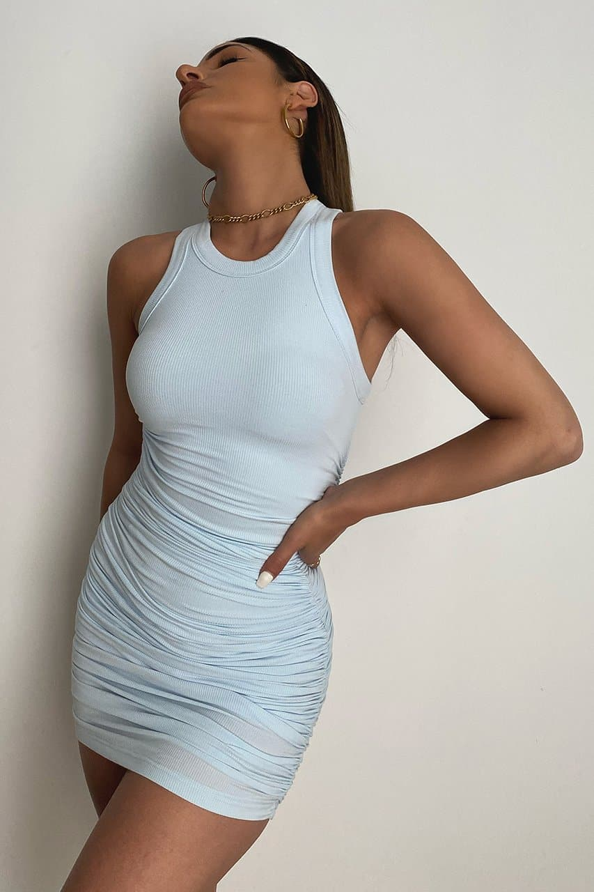 Essential Dress - Sky Blue