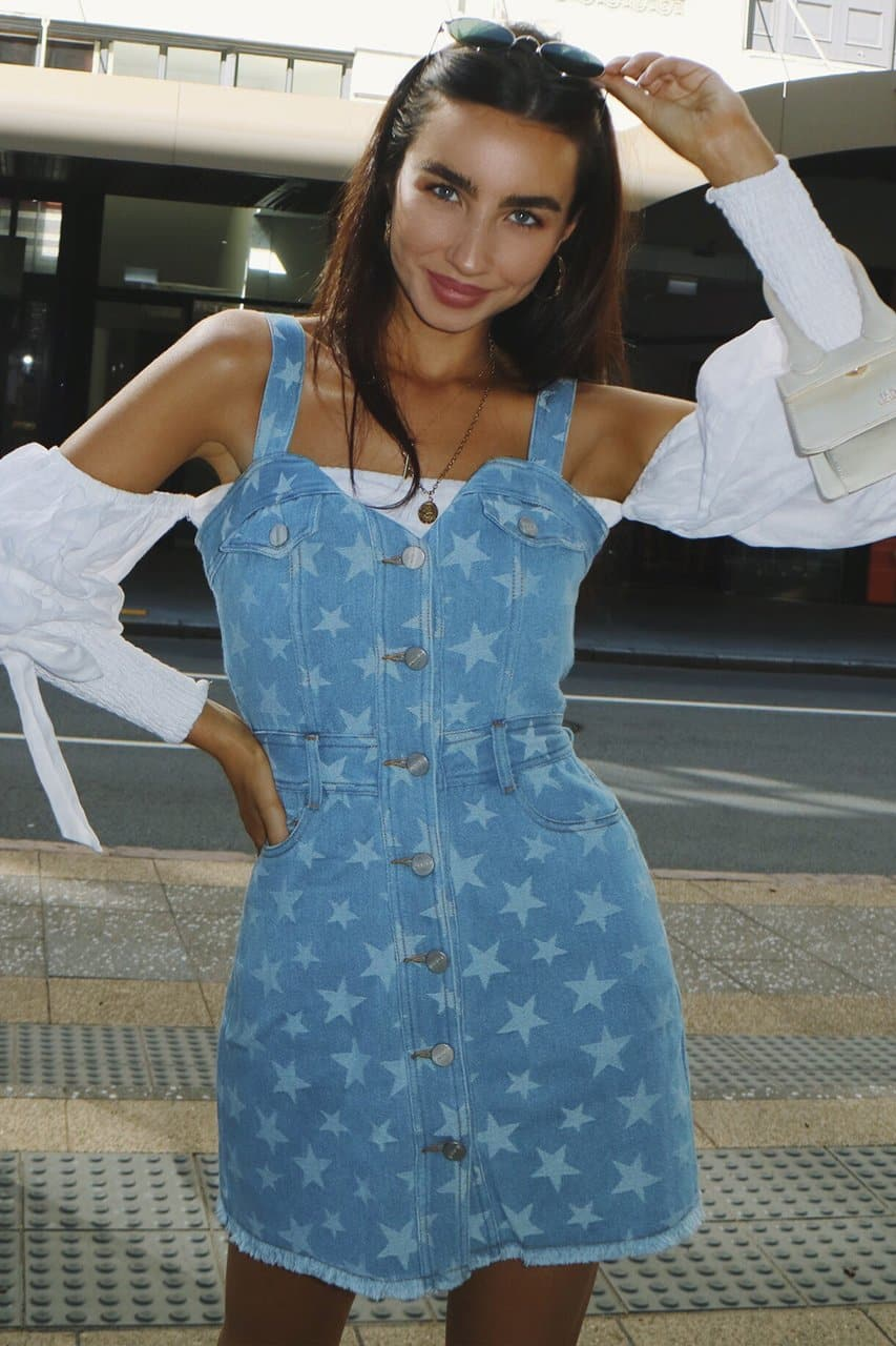 Americana Dream Dress - Star Denim