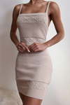 Rose Knit Dress - Sand
