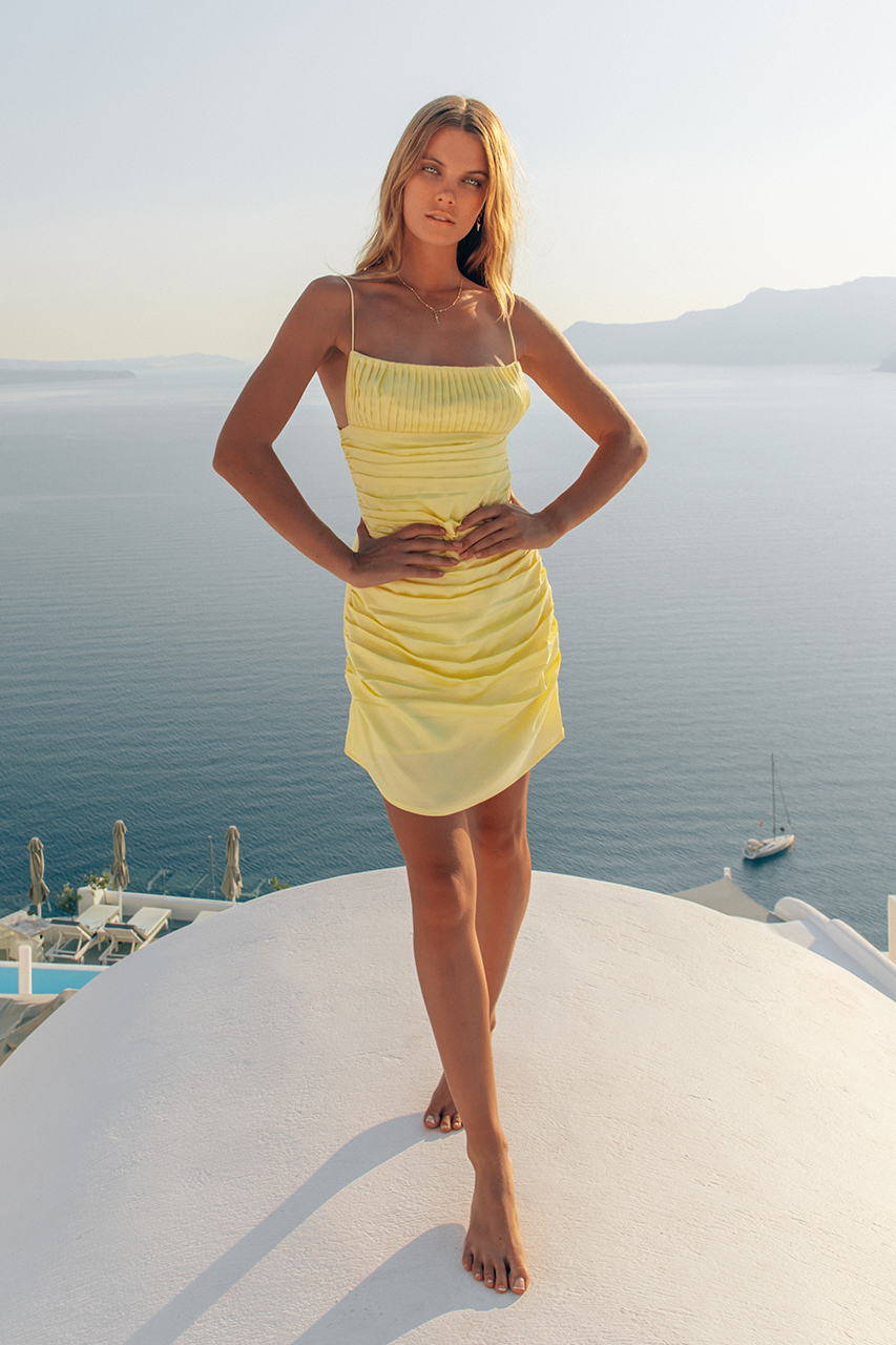 NAOMI DRESS-LEMON