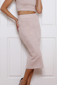 Rhythm Suede Skirt - Dusty Pink