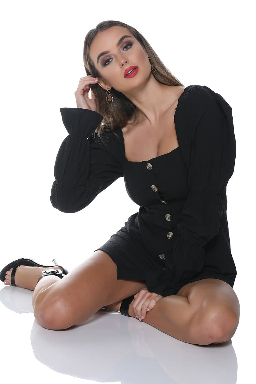Isabella Mini Dress - Black