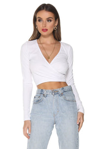 Piper Rib Top - White