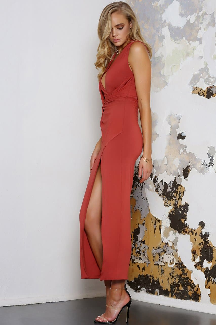 NEMESIS MAXI DRESS - RUST