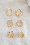 Linked Earrings - Gold