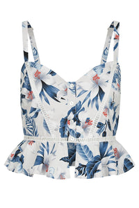 Loreli Top - Blue Floral