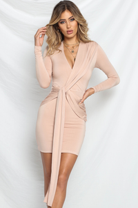 SCARLET MINI DRESS - DUSTY PINK