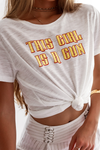 This Girl Is A Gun Tee - White Print