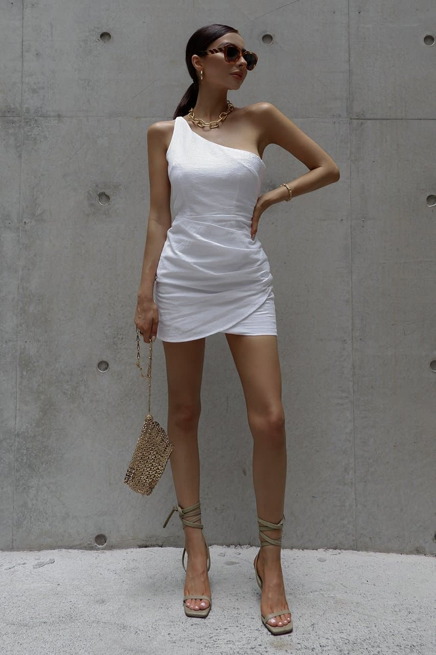 Tighan Dress - White