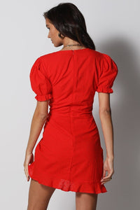 Ditsy Dress - Red