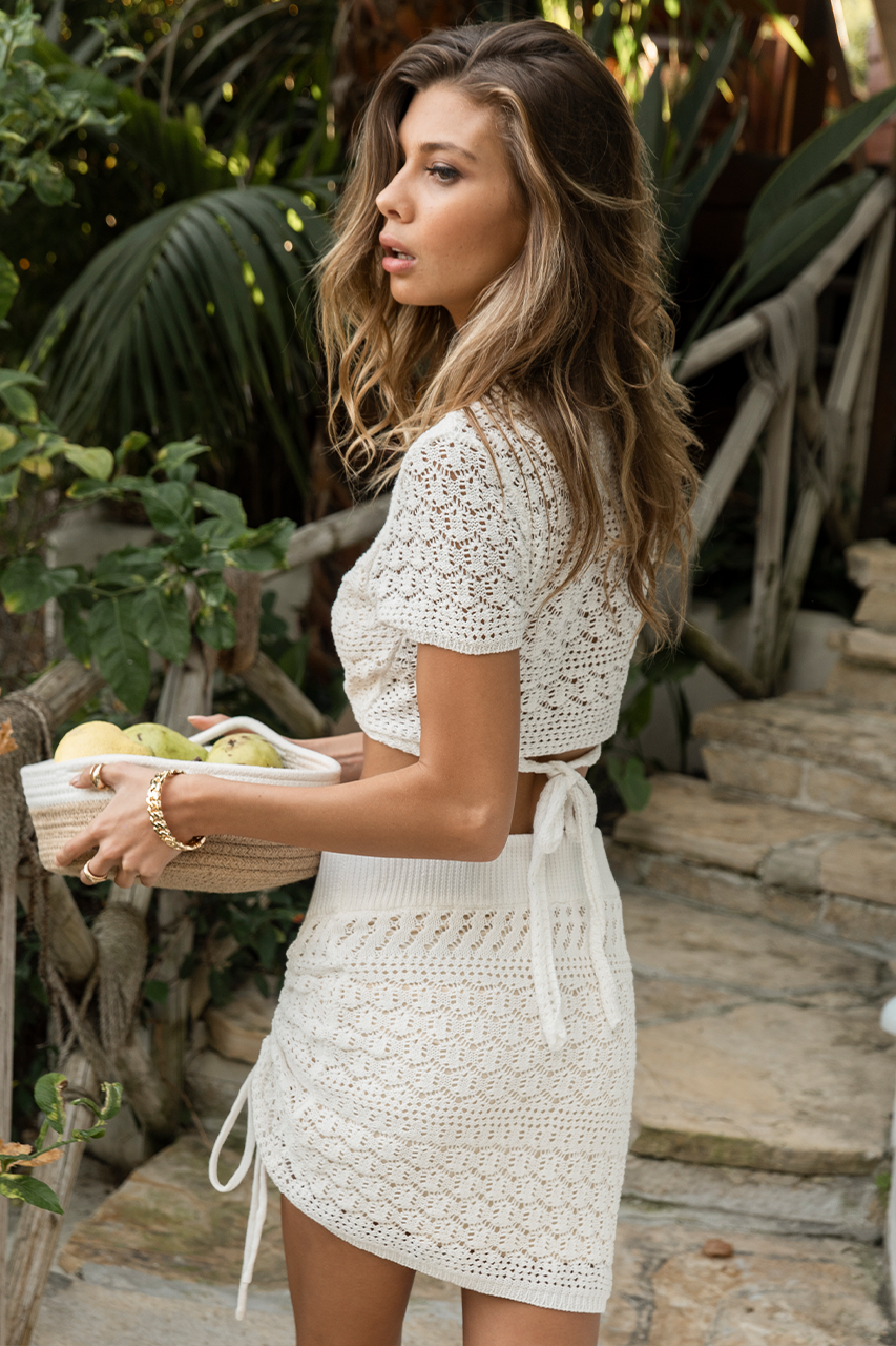 Kailani Knit Skirt - White