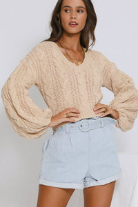 Sophia Slouch Knit Jumper - Blush