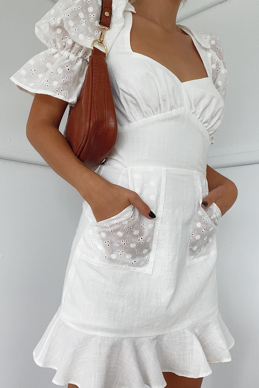 Kalani Dress-White
