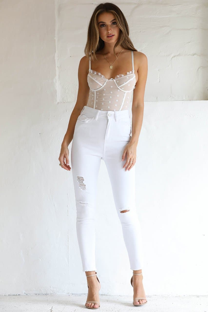 Spot Bodysuit - White