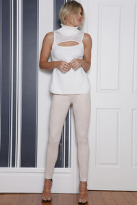 JEZEBEL SLEEVELESS KNIT  - WHITE